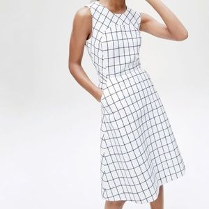 J Crew Sleeveless A-line dress windowpane tweed 4